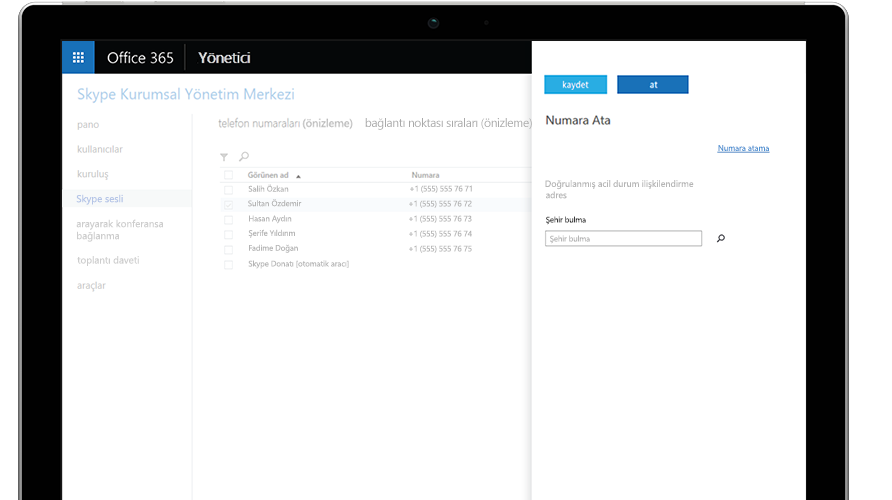 Mobil telefon ve tablette gösterilen Microsoft Teams araması