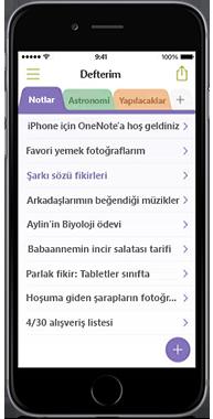 iPhone için OneNote