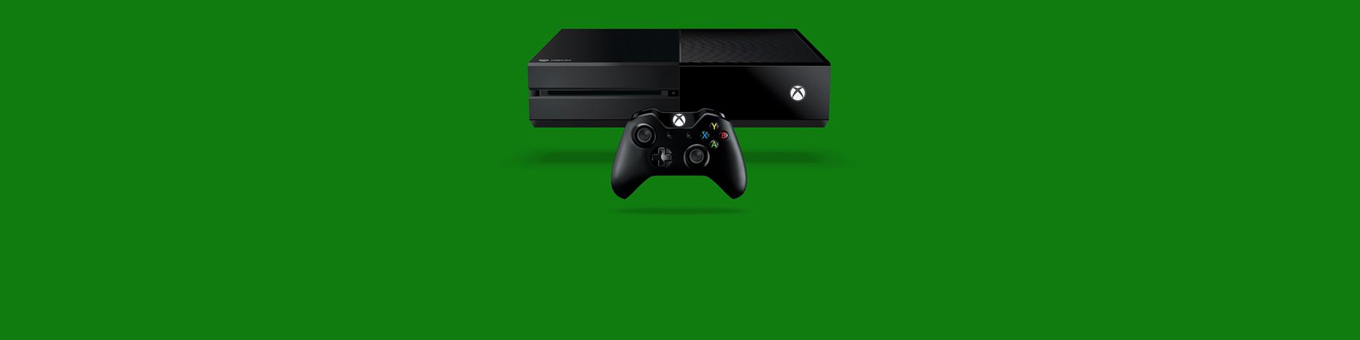 Bir Xbox One konsolu ve kumandası