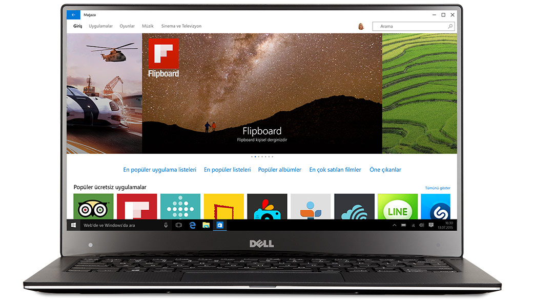 Windows 10 Dell dizüstü bilgisayar