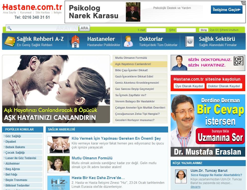 Hastane.com.tr Arama Motoru