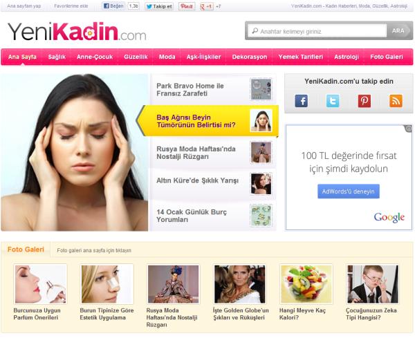 YeniKadin.com Arama Motoru