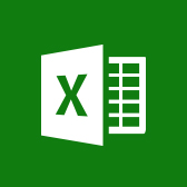 Емблема Microsoft Excel, відомості про програму Excel для мобільних пристроїв на сторінці