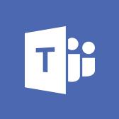 Емблема Microsoft Teams, відомості про програму Teams для мобільних пристроїв на сторінці