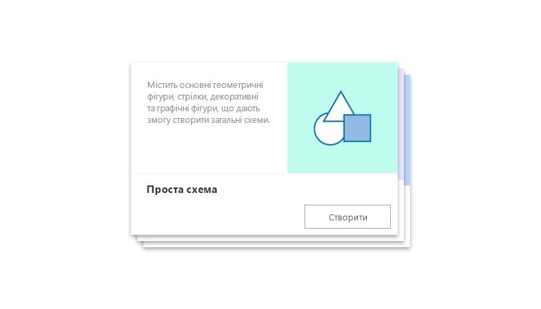 попередньо підготовлена початкова схема у Visio Online
