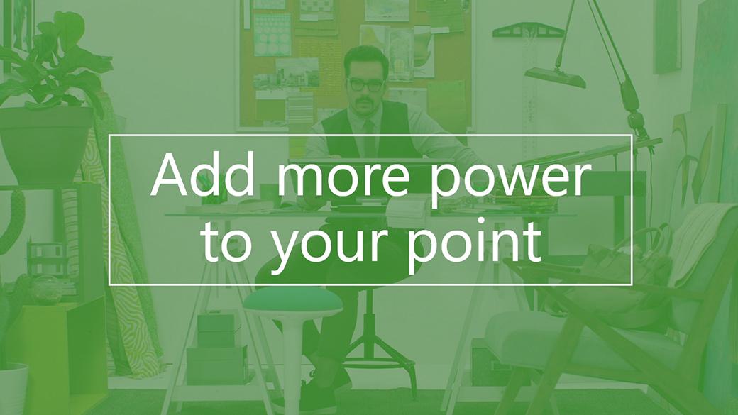 ПК, який відтворює тривимірну анімацію в PowerPoint
