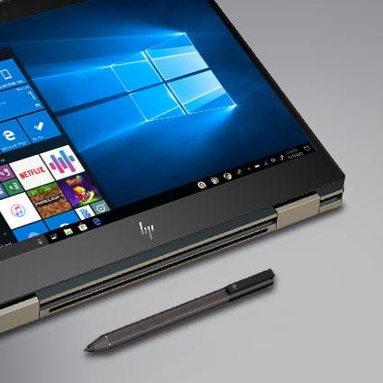 Máy tính chạy Windows 10 có bút kỹ thuật số