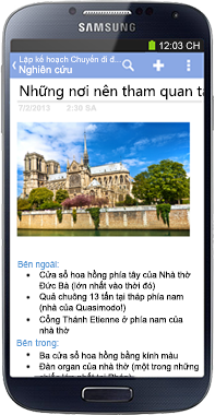 OneNote cho Điện thoại Android
