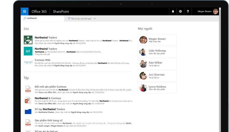 Yammer và SharePoint trên máy tính bảng