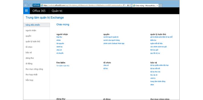 Cận cảnh trang Kết quả Xem trước cho tìm kiếm trong Exchange Online.