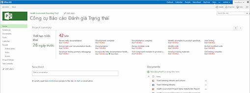 Màn hình Microsoft Project