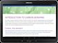 Máy tính bảng chạy Android đang chạy một ứng dụng Office