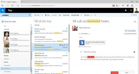 Ảnh chụp màn hình hộp thư Outlook của người dùng.
