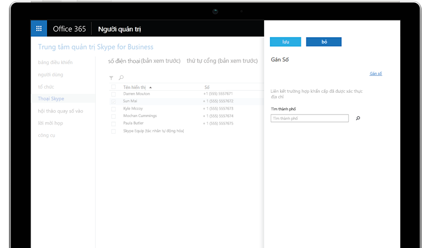 Cuộc gọi Microsoft Teams hiển thị trên điện thoại di động và máy tính bảng