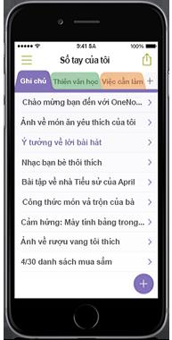 OneNote cho iPhone