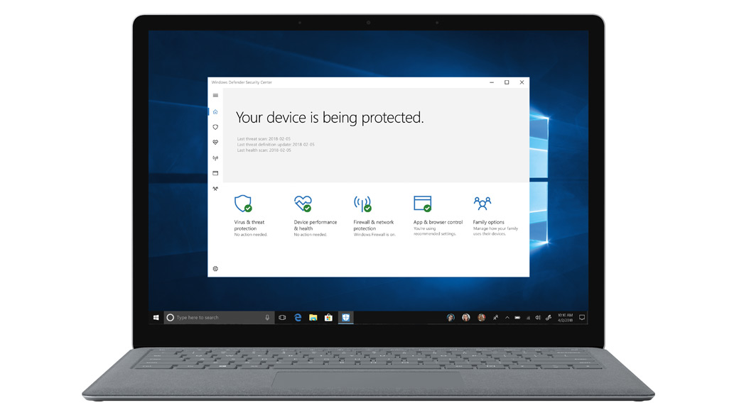 Windows Defender 安全中心
