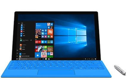 带触控笔的 Microsoft Surface Pro 4