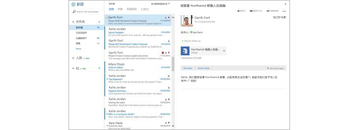一个移动设备电子邮件收件箱,在预览窗格中显示有一封新邮件