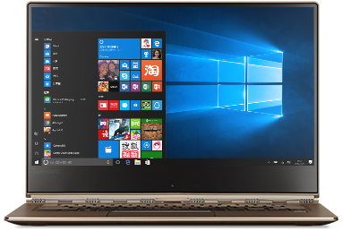 Lenovo Yoga 910 with Windows 10 start screen
