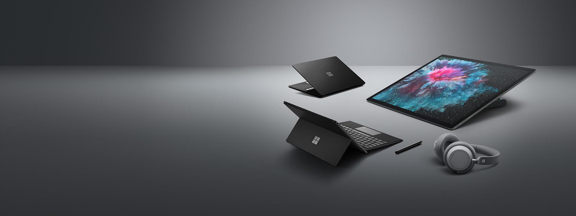 Surface Laptop 2, Surface Pro 6,Surface Headphones