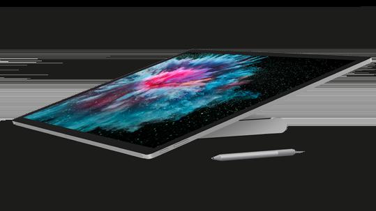 工作室模式的 Surface Studio 2