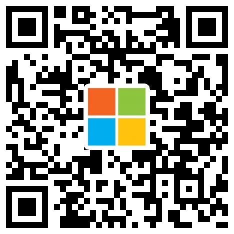 点击了解如何扫描二维码并在微信上关注微软