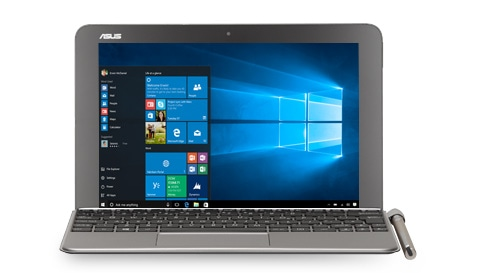 配备 Windows 10 家庭版的 ASUS T102 Transformer