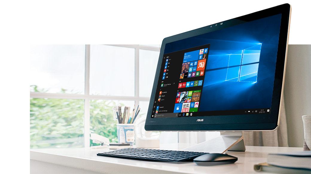"""呈现""""开始""""屏幕的 Windows 一体机"""