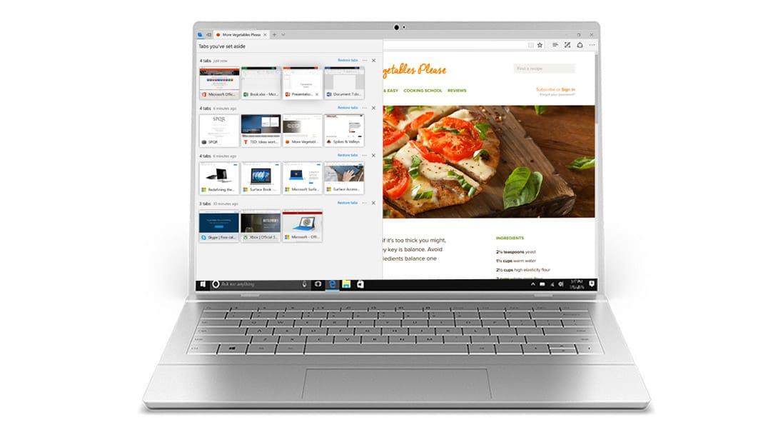 Microsoft Edge 标签页预览