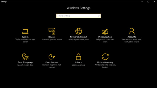 Microsoft Windows 10 暗模式