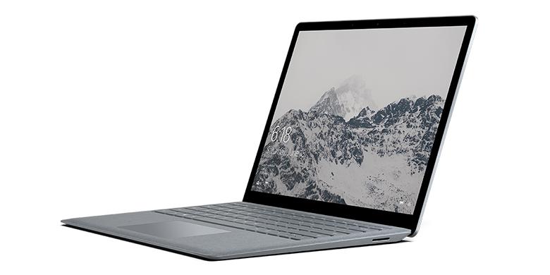 亮铂金 Surface Laptop 电脑左面