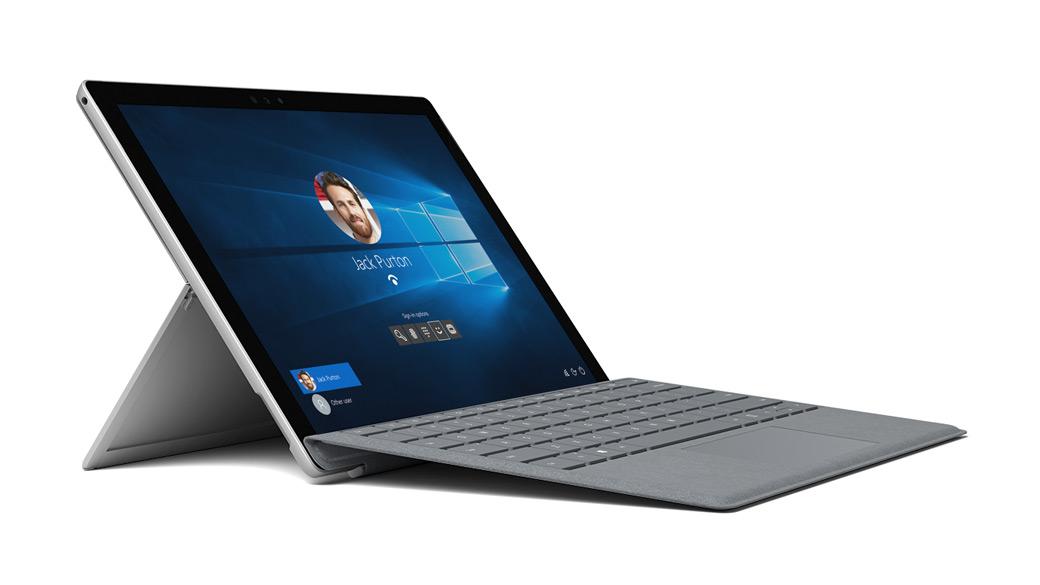 Surface Pro 6 顯示 Windows 10 桌面