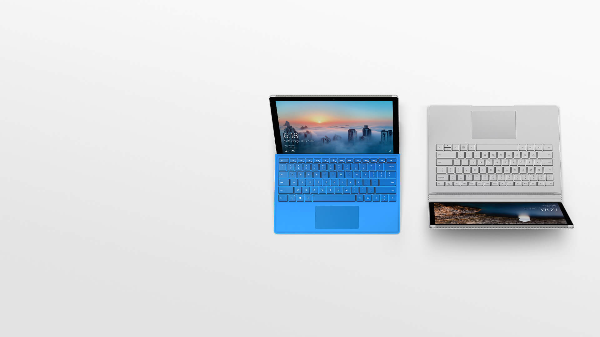 Surface Pro 4 與 Surface Book。