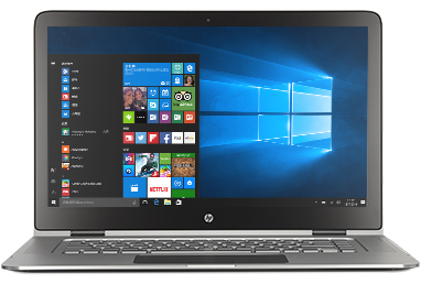 HP Spectre x360 with Windows 10 start screen