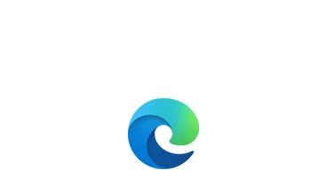 Microsoft Edge 藍色和綠色漩渦