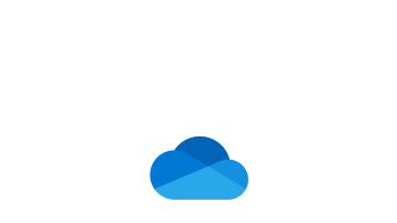 OneDrive 備份藍色雲朵