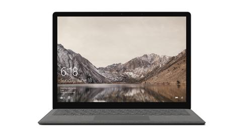 Surface Laptop 的裝置展示