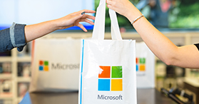 In store pickup at Microsoft Store