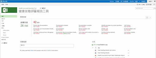 Microsoft Project 畫面