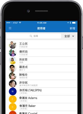 顯示使用者畫面的手機影像。