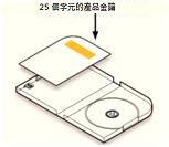 DVD 外盒中的產品金鑰位置