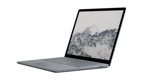 Surface Laptop 與 Alcantara® 鍵盤。
