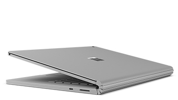Surface Book 2 向下折。