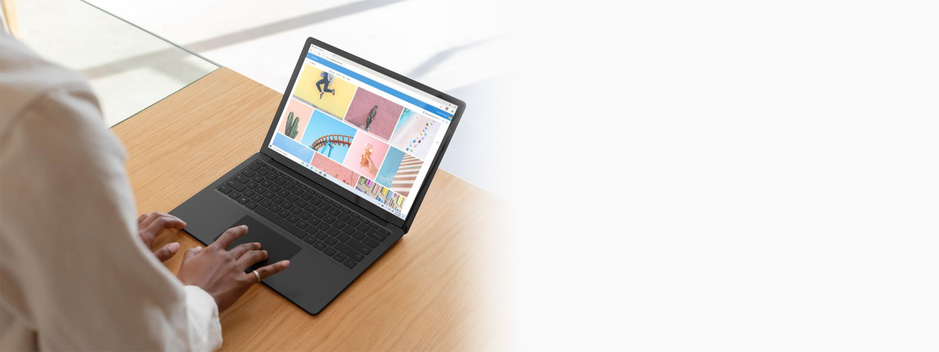 黑色 Surface Laptop 3