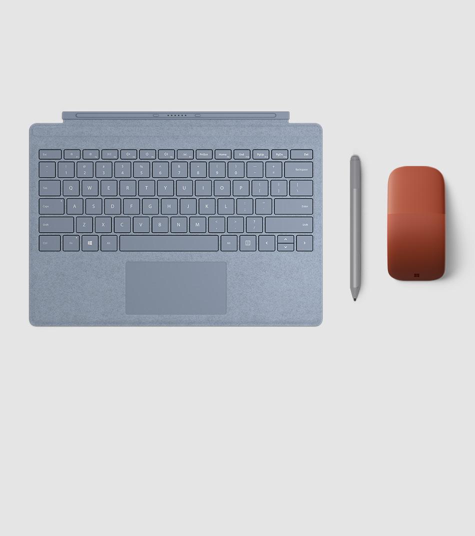 Surface 手寫筆、Surface Signature 實體鍵盤保護蓋和 Surface Arc 滑鼠