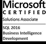 MCSA: SQL 2016 Business Intelligence Development
