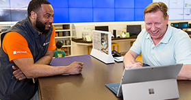 Answer Desk, instore service, support